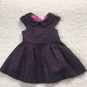 Cherokee girls sparkly plum party dress